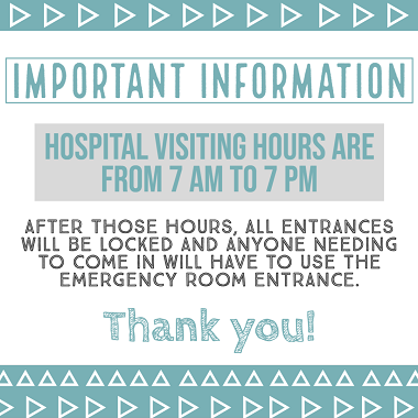 Visiting hours web