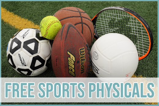 Free Sports Physicals Offered August 4th and August 6th!