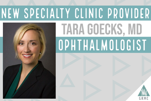 Dr. Tara Goecks to join the GRMC Specialty Clinic